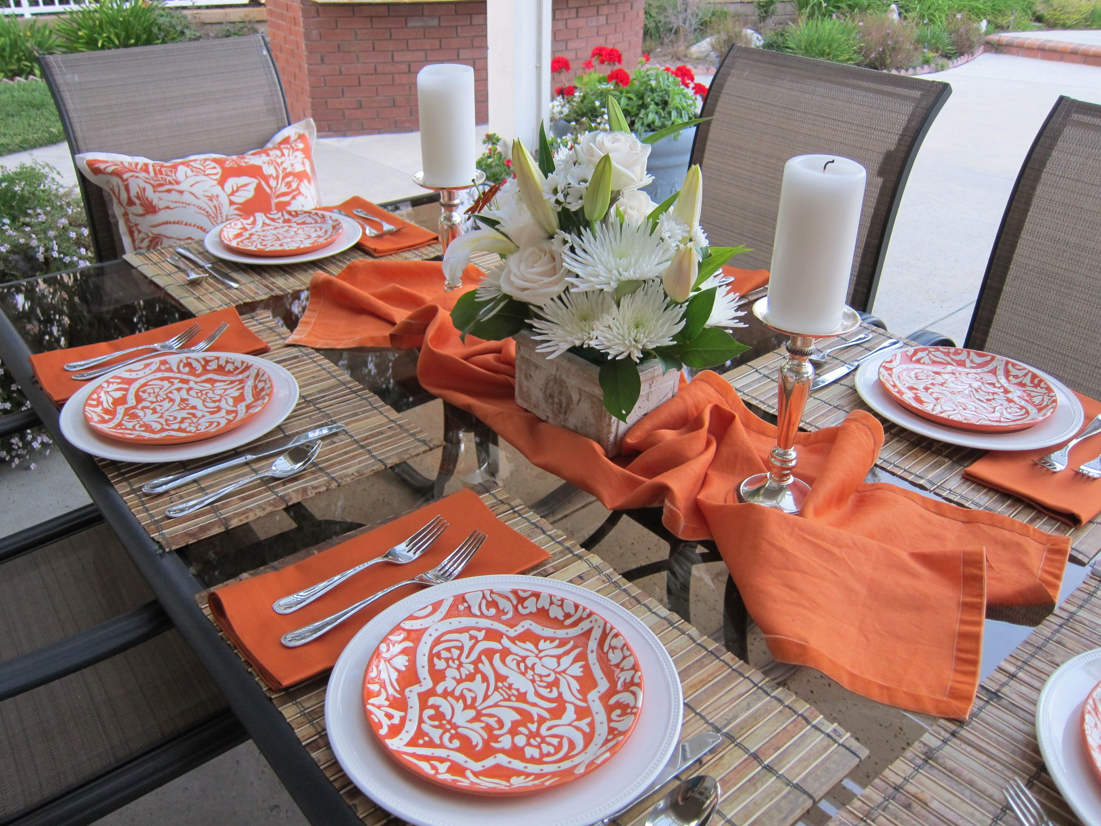 Summer Tablescapes Orange Is A Color That Is Often Left Out Of