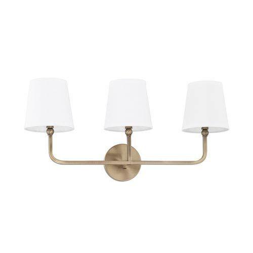 Photo of Capital Lighting Fixture Company Dawson Aged Brass Three Light Bath Vanity 119331ad 674 | Bellacor