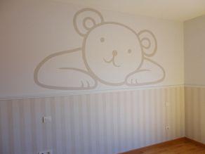 Mural papel pintado para decorar habitacion de bebe for Murales habitacion bebe