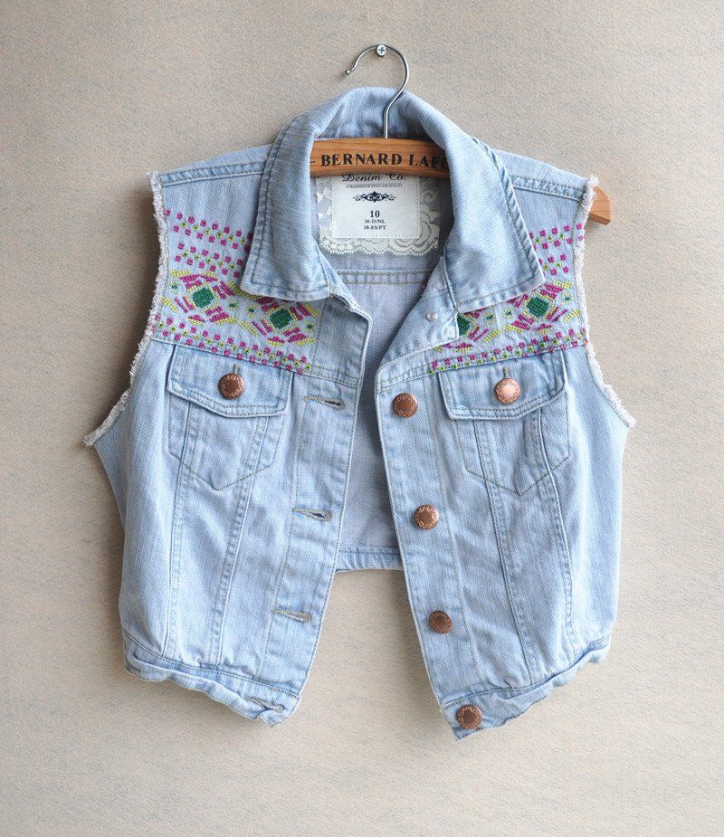 1000  images about Sewing - Denim Vest on Pinterest | Vests ...