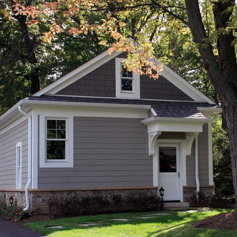 Exterior design ideas pictures remodels and decor gray - Sherwin williams dorian gray exterior ...