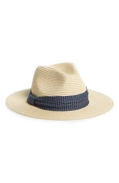 87309792 BP. Banded Straw Fedora available at #Nordstrom   Accessoriees ...