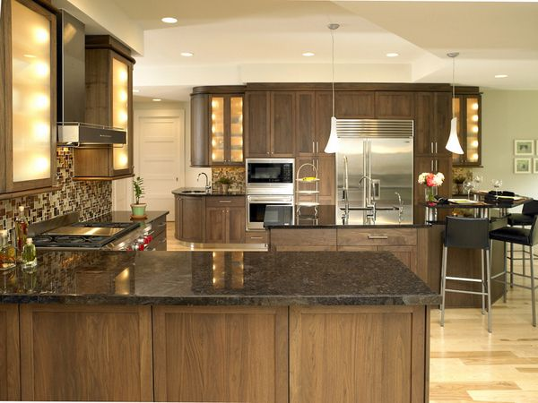 Attractive Kitchens · Solid Walnut Cabinetry ...