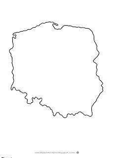 Mapa Polski Kontur Szablon Nauka Pisania I Czytania Preschool