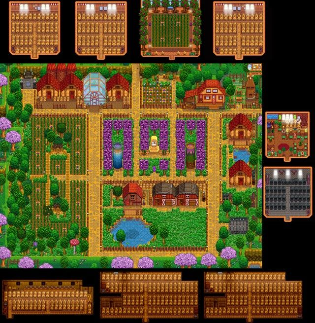 Stardew valley layout farms farm year nintendo switch also best images in rh pinterest