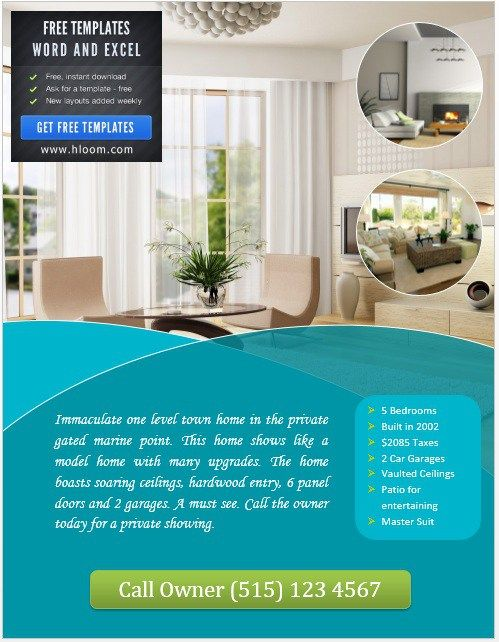 house for sale flyer template stationary templates pinterest