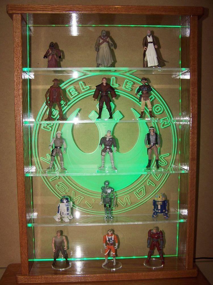Custom Star Wars Action Figure LED Lit Display Case Stuff To Buy Custom Star Wars Action Figure Display Stand