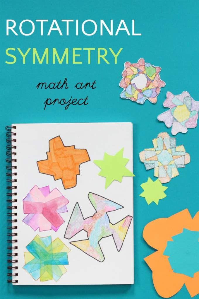 Groovy Math: Rotational Symmetry Art Project | Pinterest | Math art ...