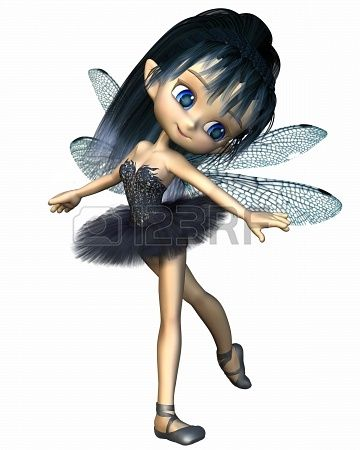 22074510-cute-toon-ballerina-fairy-with-dragonfly-wings-wearing-a-blue-tutu-3d-digitally-rendered-illustratio.jpg (360×450)