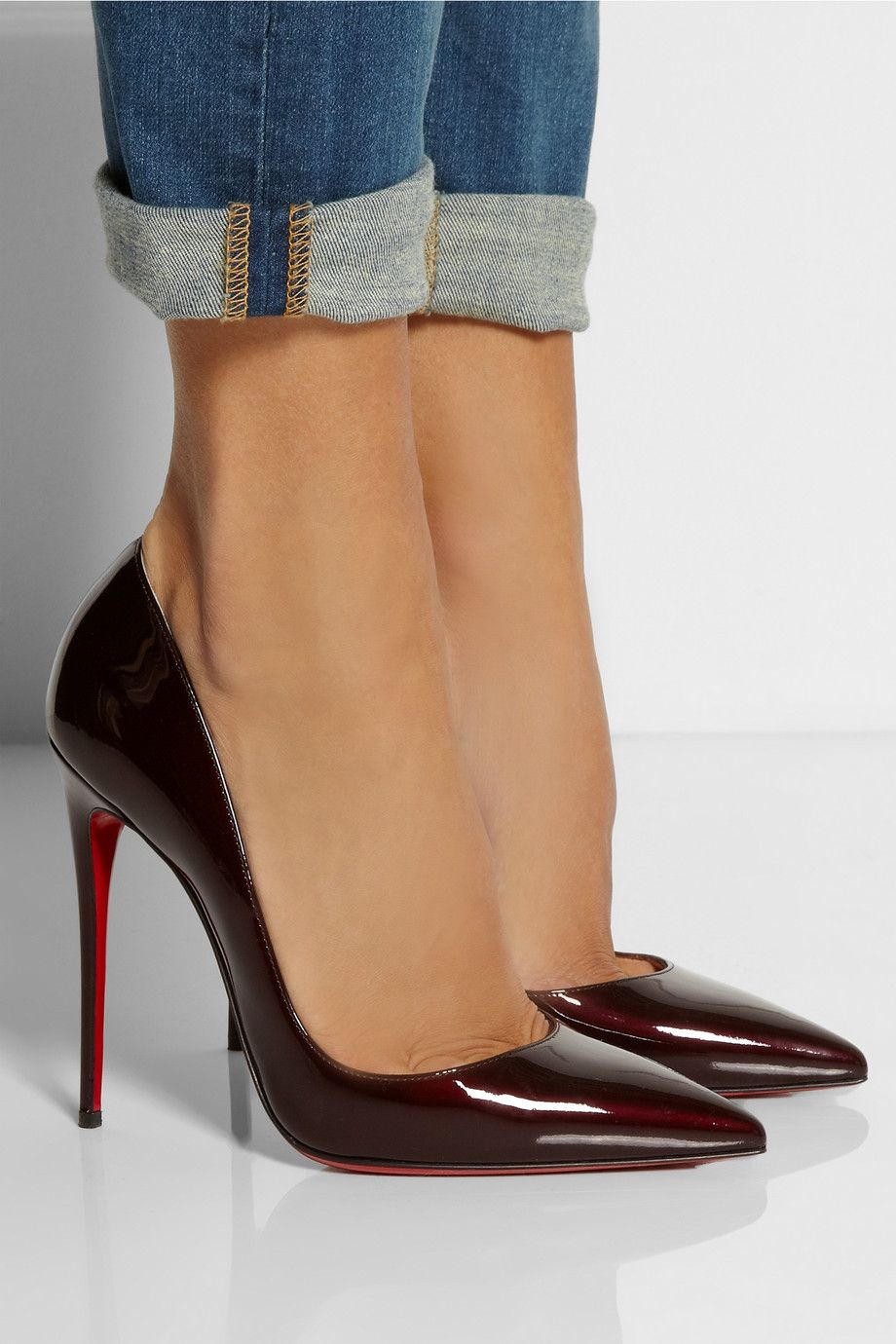 meilleur service 6f539 2f364 Christian Louboutin | So Kate 120 patent-leather pumps | NET ...