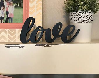Love Decor Signs Captivating Mini Love Wood Word Cutout Laser Cut Word Love Sign Wall Decor Design Decoration