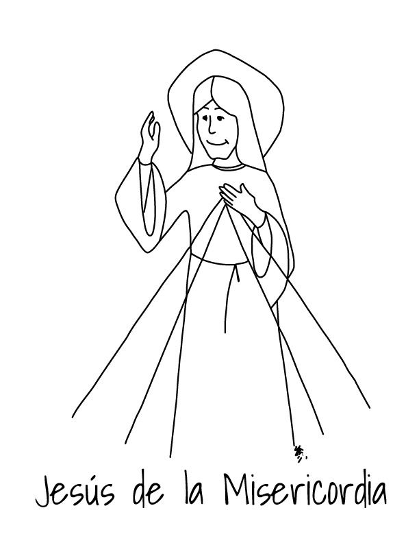 JESUS DE LA MISERICORDIA- DIBUJO PARA COLOREAR | Catequesis ...