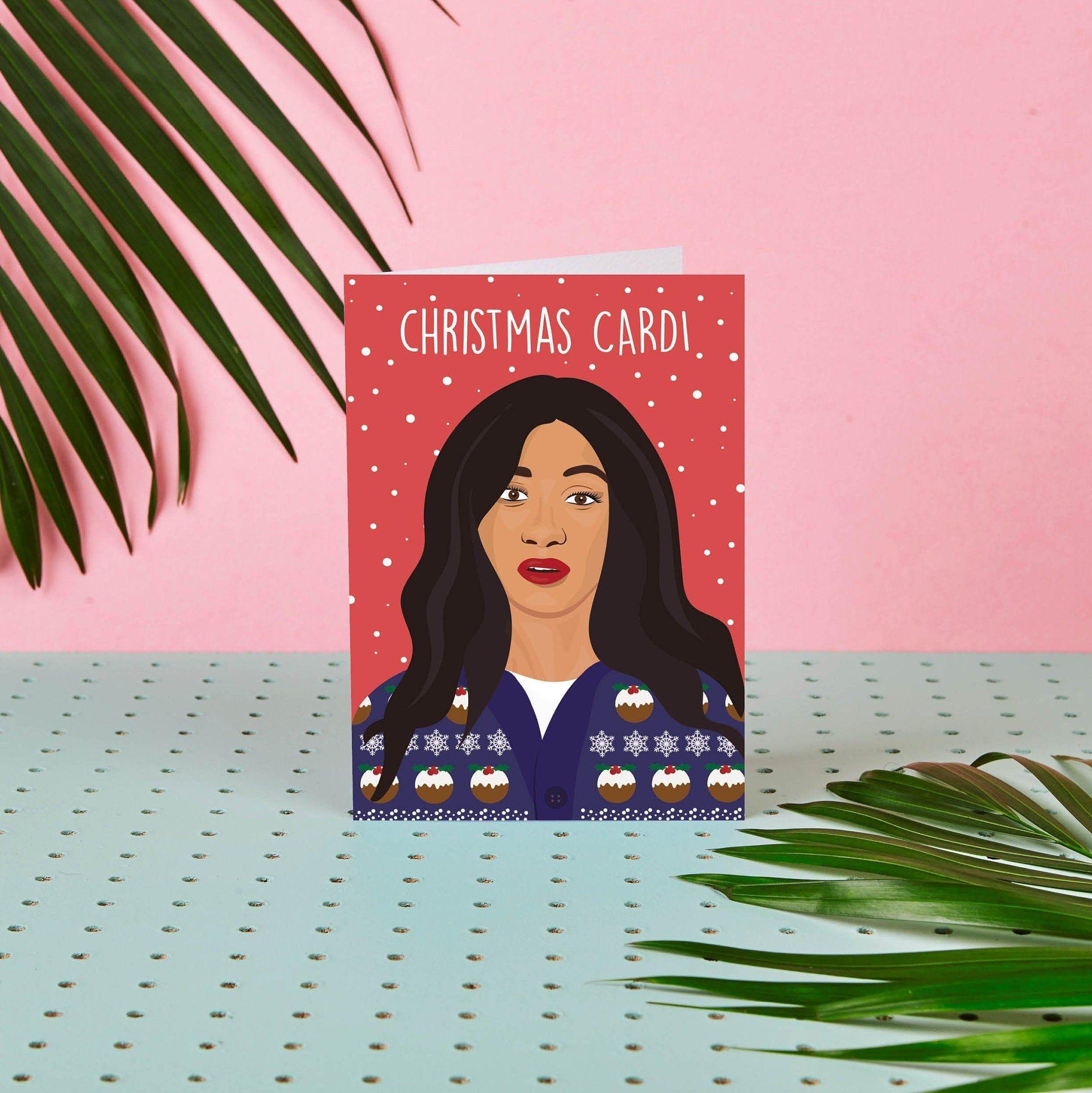 Celebrity Christmas Pics 2020 Christmas Card   Cardi B   Cardi B Greeting Card   Cardi B