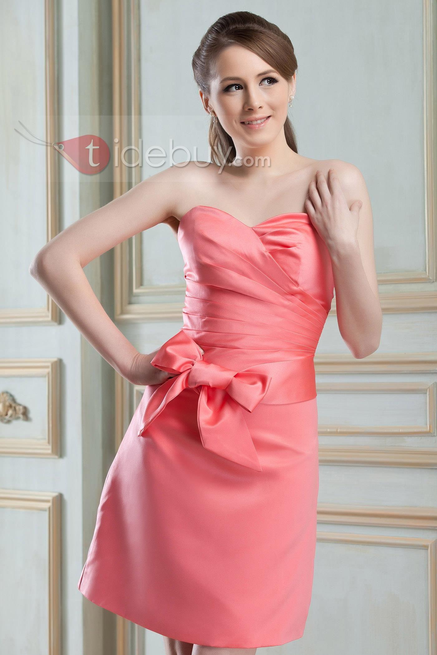 Enchanting Sashes/Ribbons A-line Sweetheart Neckline Short/Mini ...