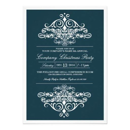 Elegant company christmas party invitation party invitations elegant company christmas party invitation stopboris Choice Image