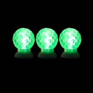 70 round green led christmas lights