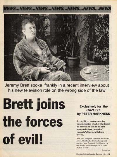 Revista Jeremy ha sido publicada - Jeremy Brett y (Jeremy Brett) habla de la Granada Holmes