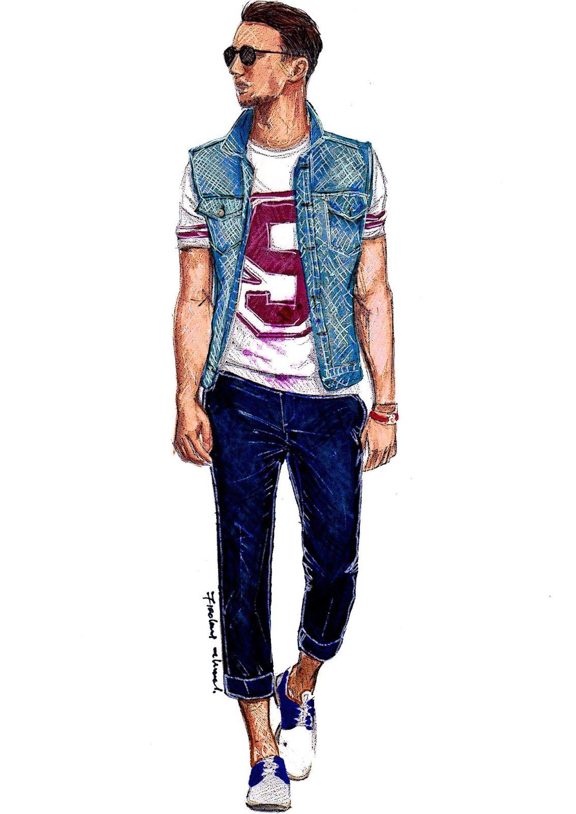 mens fashion illustration one dapper 01 i love