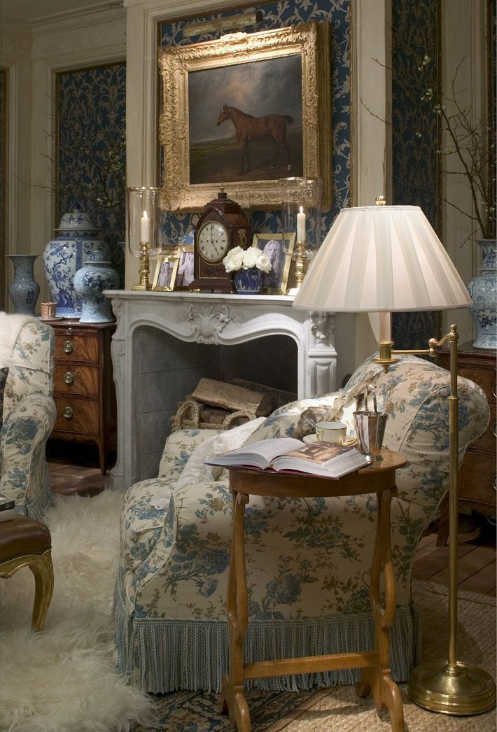Country english elegance home decor pinterest english reading room and room ideas - Pinterest home interiors ...