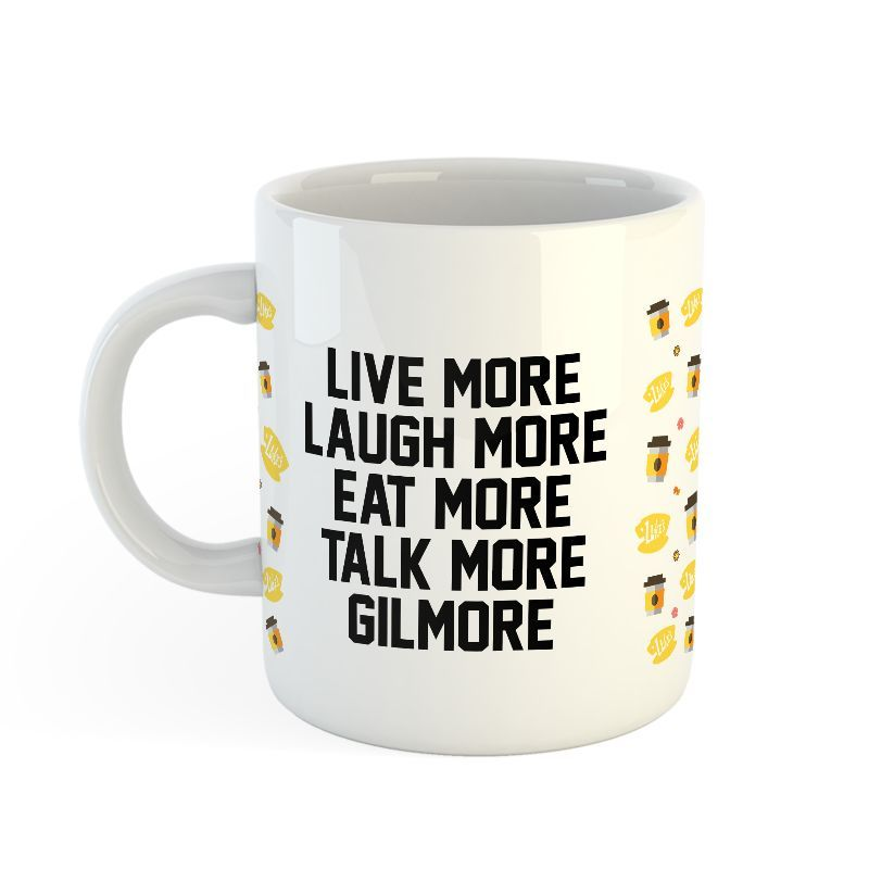 Live More Laugh More Eat More Talk More Gilmore Girls Coffee Gift Mug! this is the perfect coffee tea gift mug tee to gift your friend, family or you! add to your wishlist!