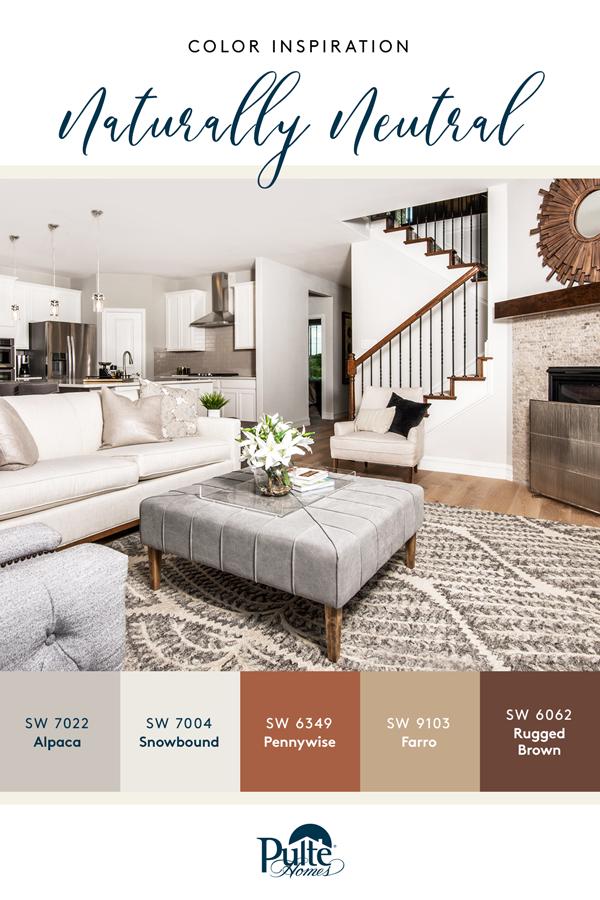 Naturally Neutral Color Inspiration Decor Color Palette Color Palette Living Room House Color Palettes