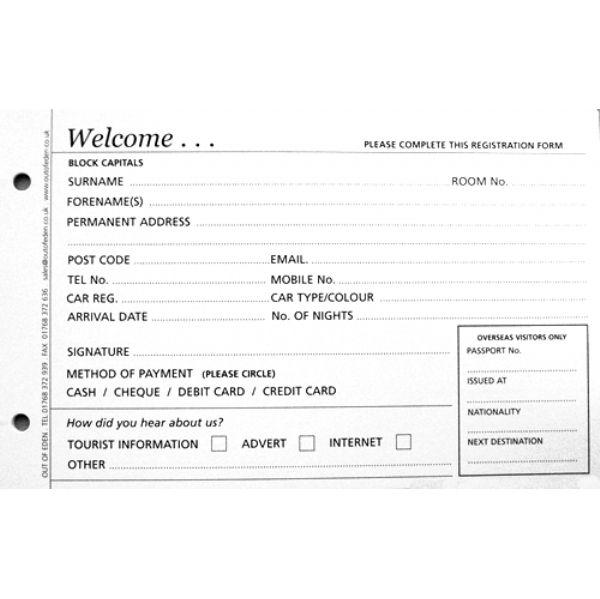 Guest Registration Cards Binder And Storage Box Registration Cards Guest