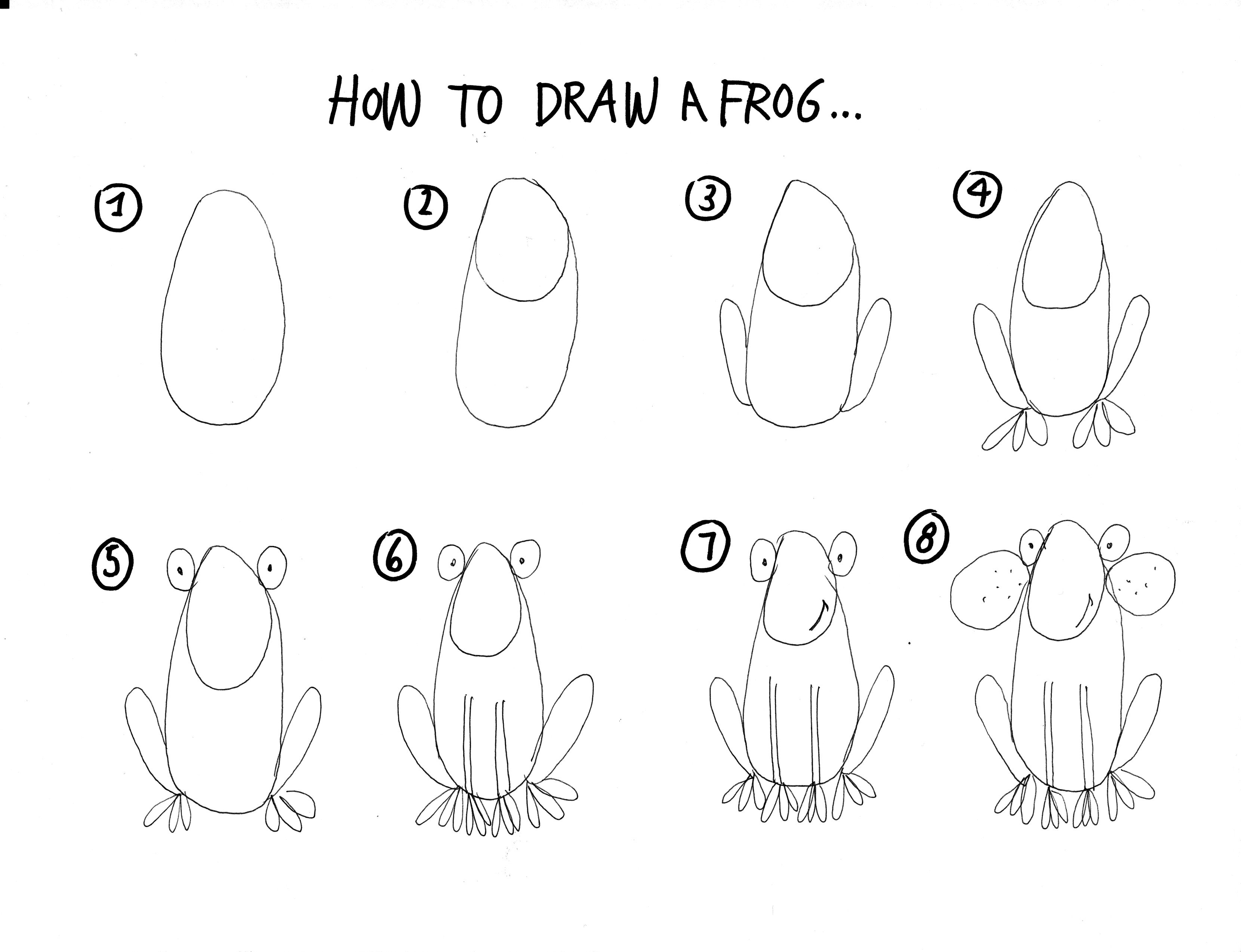 Uncategorized Draw A Frog Step By Step my fathers world k f is for frog how to draw a step by draw