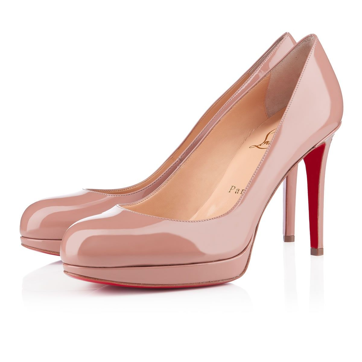 new arrival 9f558 184ed New Simple Pump 100 Nude Patent Leather - Women Shoes ...