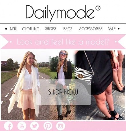 http://www.dailymode.net/  Newsletter