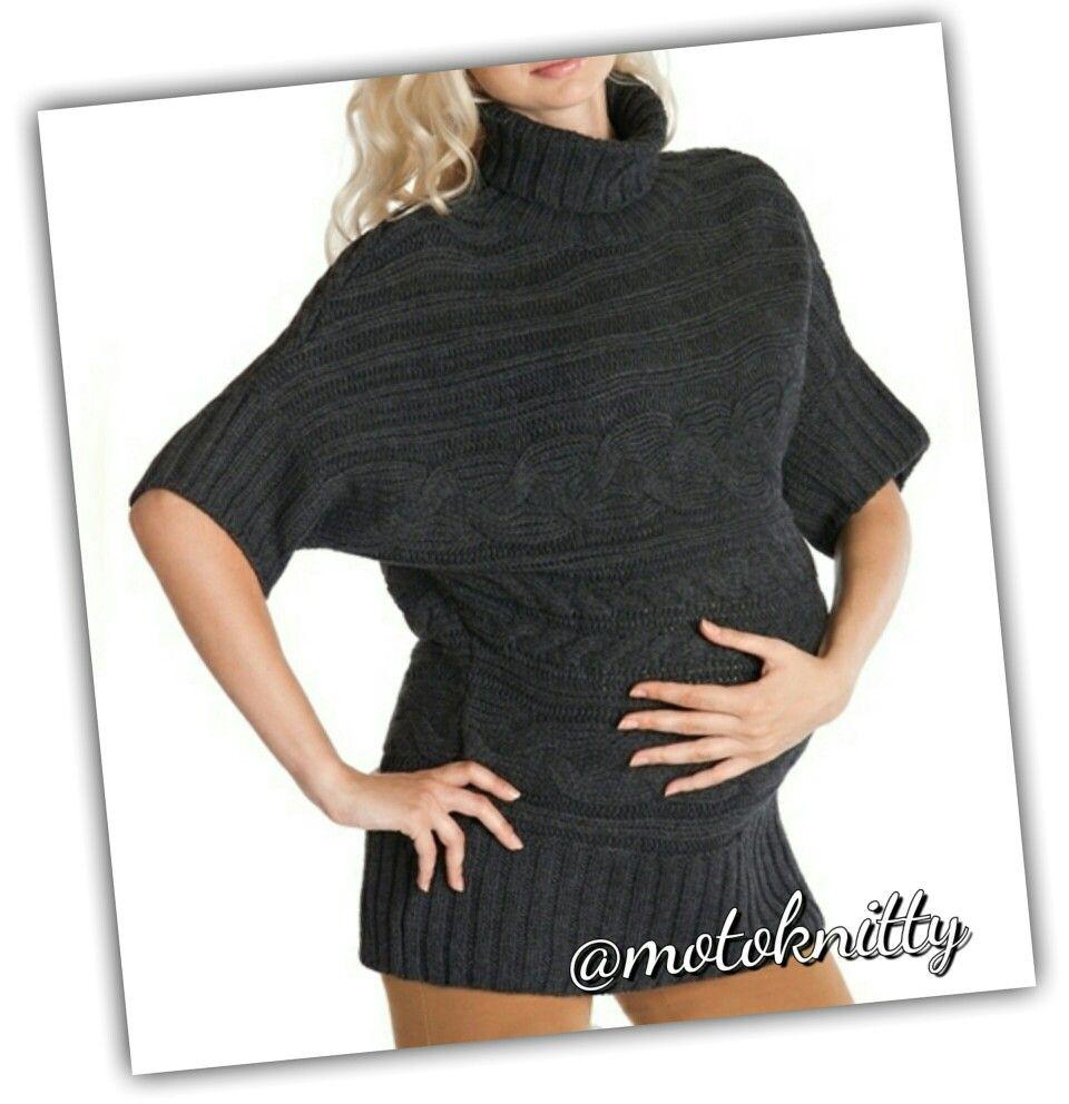 Стильный вязаный пуловер для беременных   Вязаная одежда для беременных 5bd6f8a1a1d
