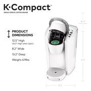 Keurig K Compact Single Serve K Cup Pod Coffee Maker White