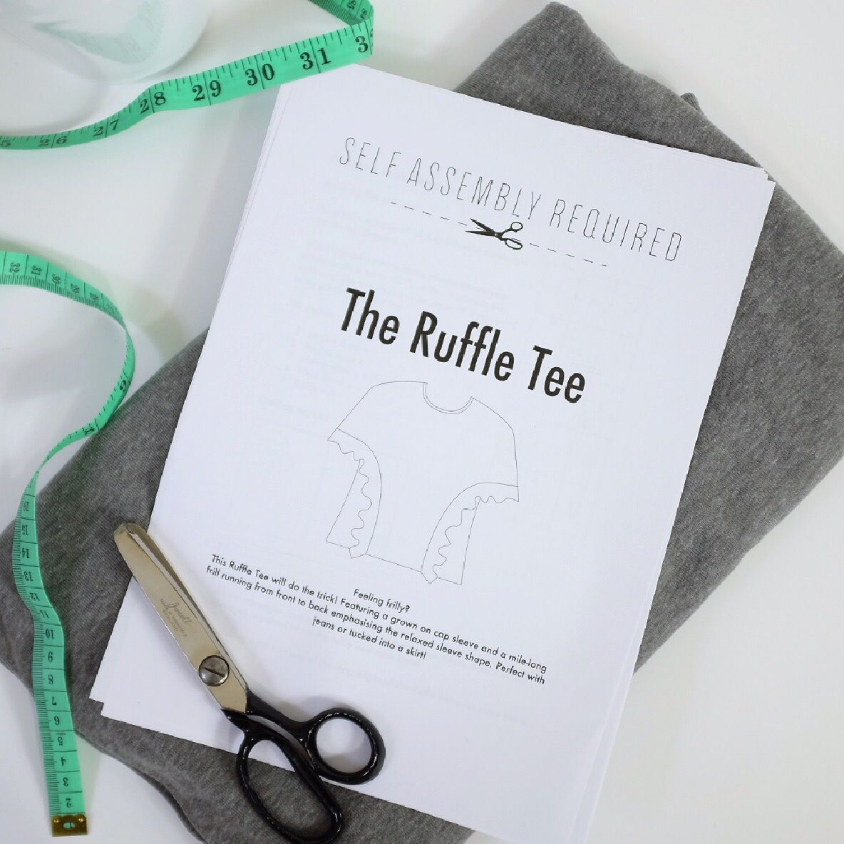 The ruffle tee pattern for free self assembly required the ruffle tee pattern for free jeuxipadfo Gallery