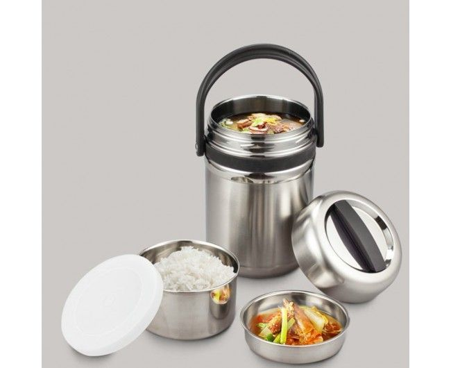 Vacuum Insulated Lunch Box Thermal Insulating Stainless Steel Lunch Containers 2.0L (0.53  sc 1 st  Pinterest & Vacuum Insulated Lunch Box Thermal Insulating Stainless Steel ... Aboutintivar.Com