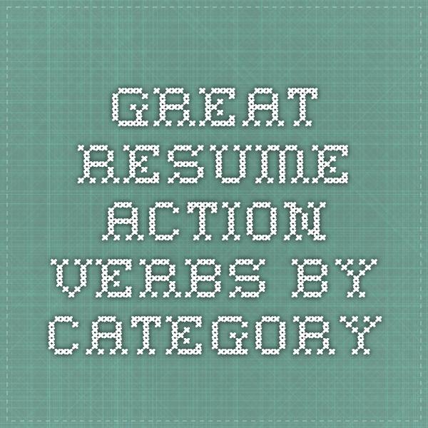great resume verbs