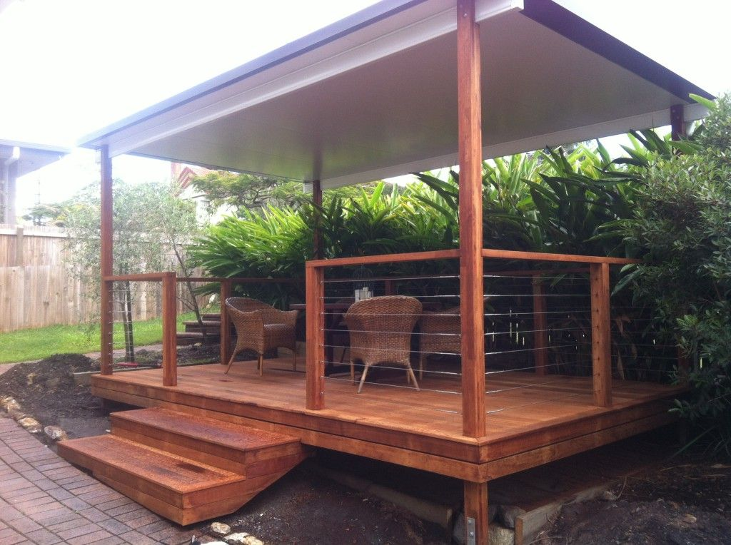 garden gazebo with insulated roof at carina heights