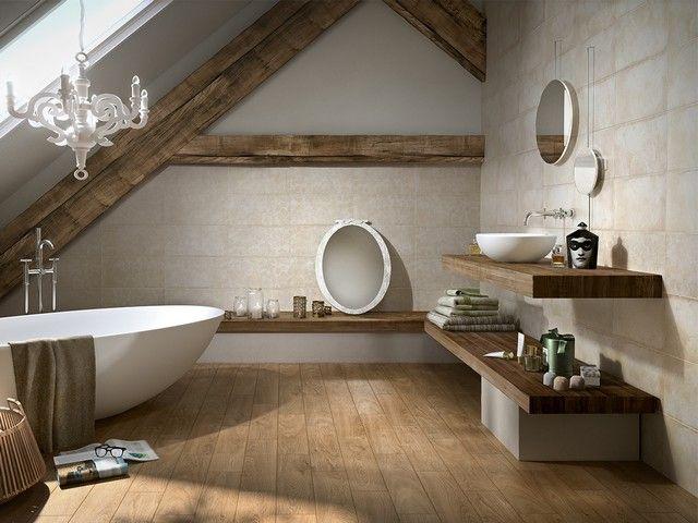 Rivestimento per bagno effetto cemento: bagno piano di sotto