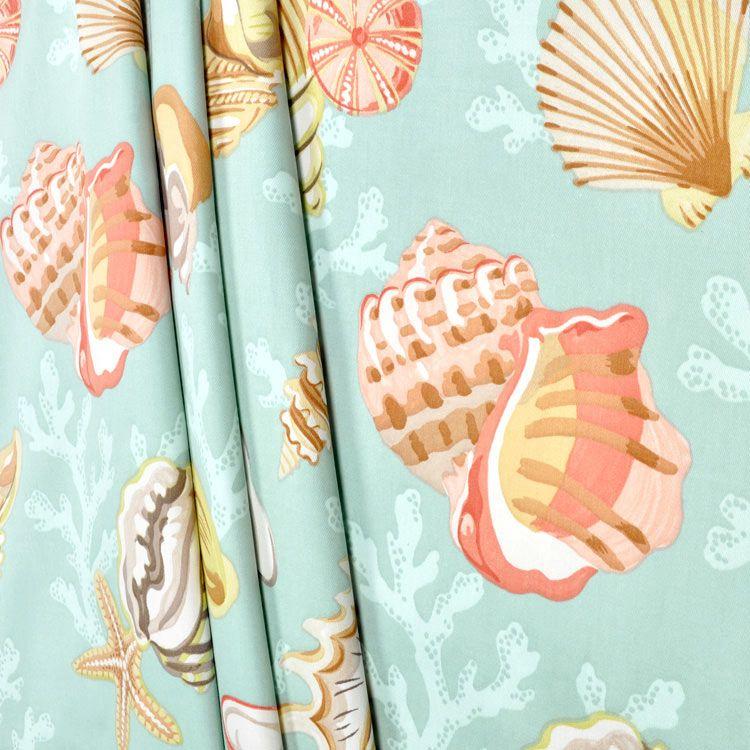 P. Kaufmann Coral Beach Beach Glass Fabric | Beach fabric ...