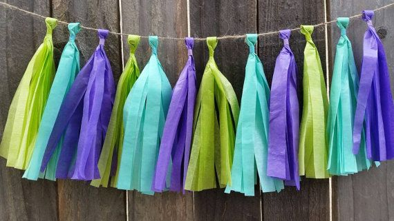 Monsters tassel garland, monsters birthday, birthday party, first birthday, mardi gras party, monsters , party supplies, high chair banner