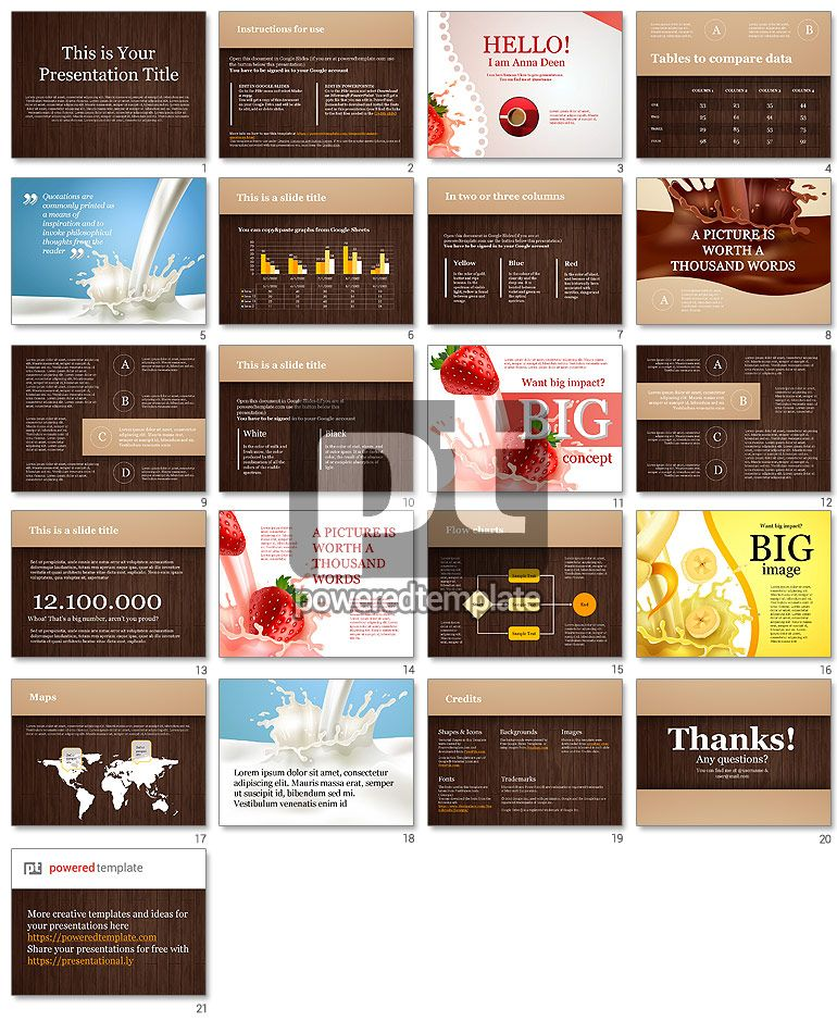 53d8252be Chocolate Theme Google Slides Template