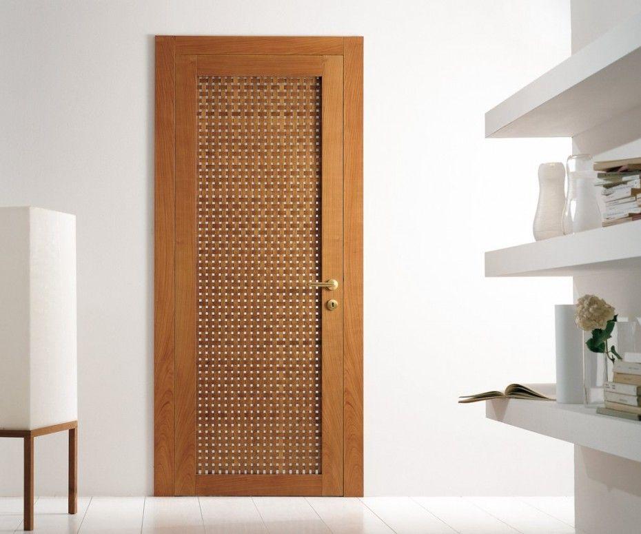 Minimalist also contemporary door model aura trustile modern door 5000 in walnut with - Insulating exterior paint minimalist ...