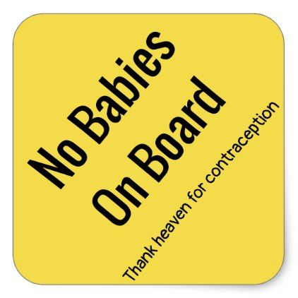 no babies on board square sticker baby gifts child new born gift idea diy cyo