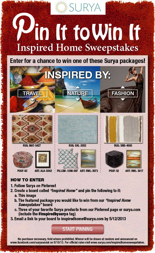 surya is giving away a free rug and accessory package re pin this rh pinterest com houses to win uk houses to win in uk