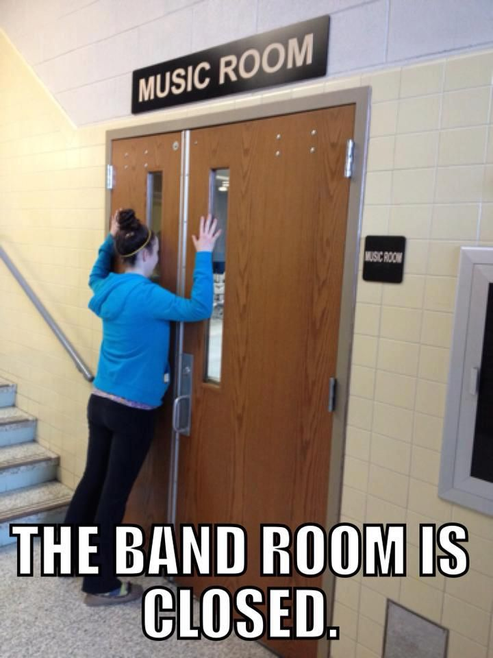 This is how our band kids are, simply because our school ...