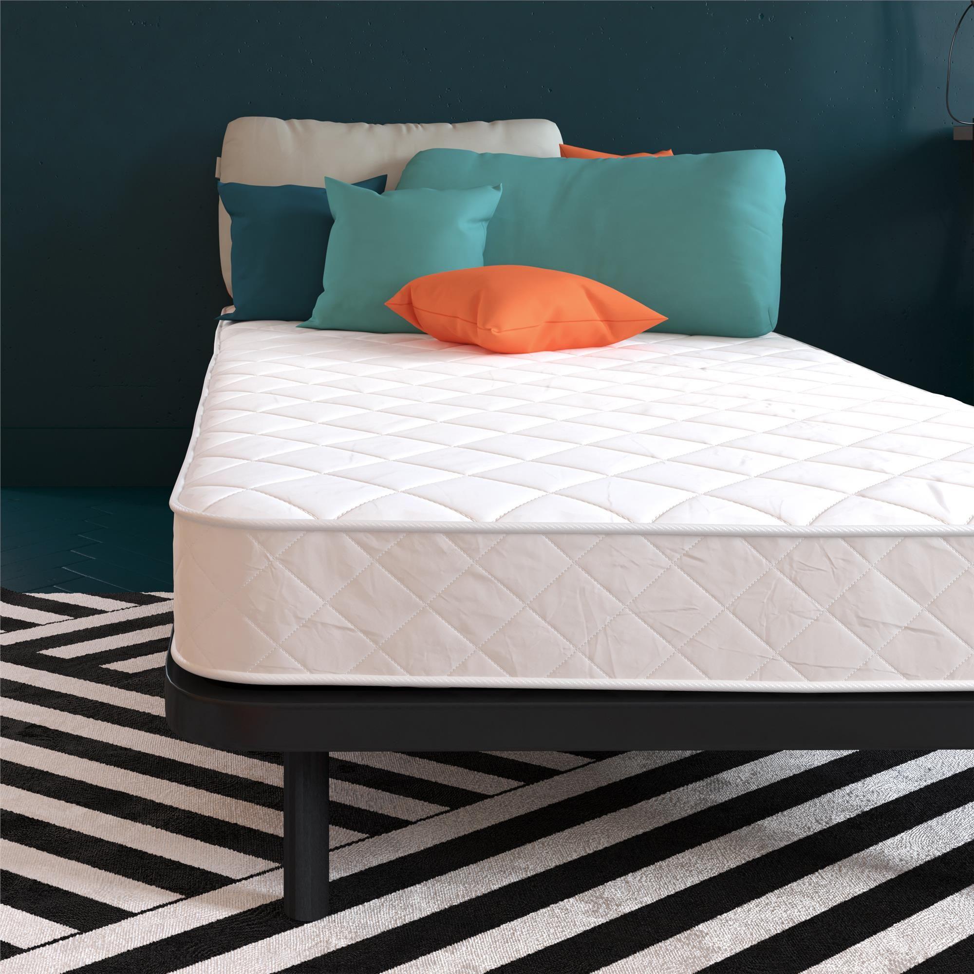 Continental Sleep 10 Inch Eurotop Pillowtop Fully Assembled Innerspring Mattress And 8 Inch Semi Flex Box Spring Twin Xl Size Gray Mattress Furniture Twin Xl