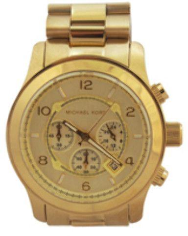 3b701a3b09cb Michael Kors - MK8077 Runway Oversized Gold-Tone Watch (1 Pc ...