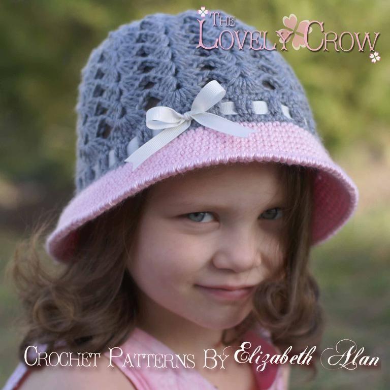 Little Girls Hat 'Angel Baby Cloche'