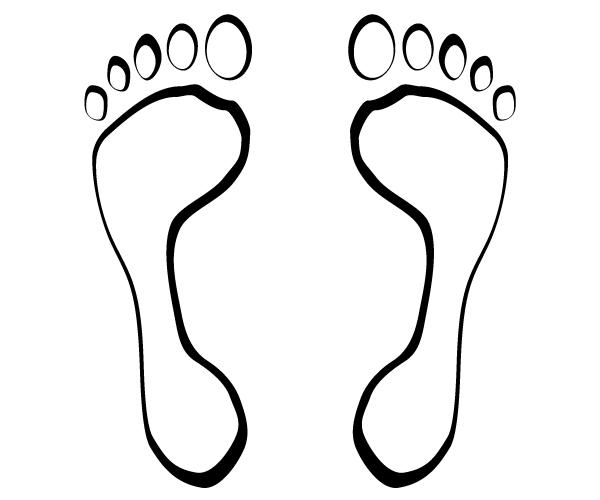 footsteps vector image free vectors pinterest clip art free rh pinterest co uk