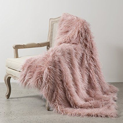 Best Home Fashion Pink Mongolian Lamb Faux Fur Throw Blanket 58 Faux Fur Throw Blanket Fur Throw Blanket Faux Fur Blanket