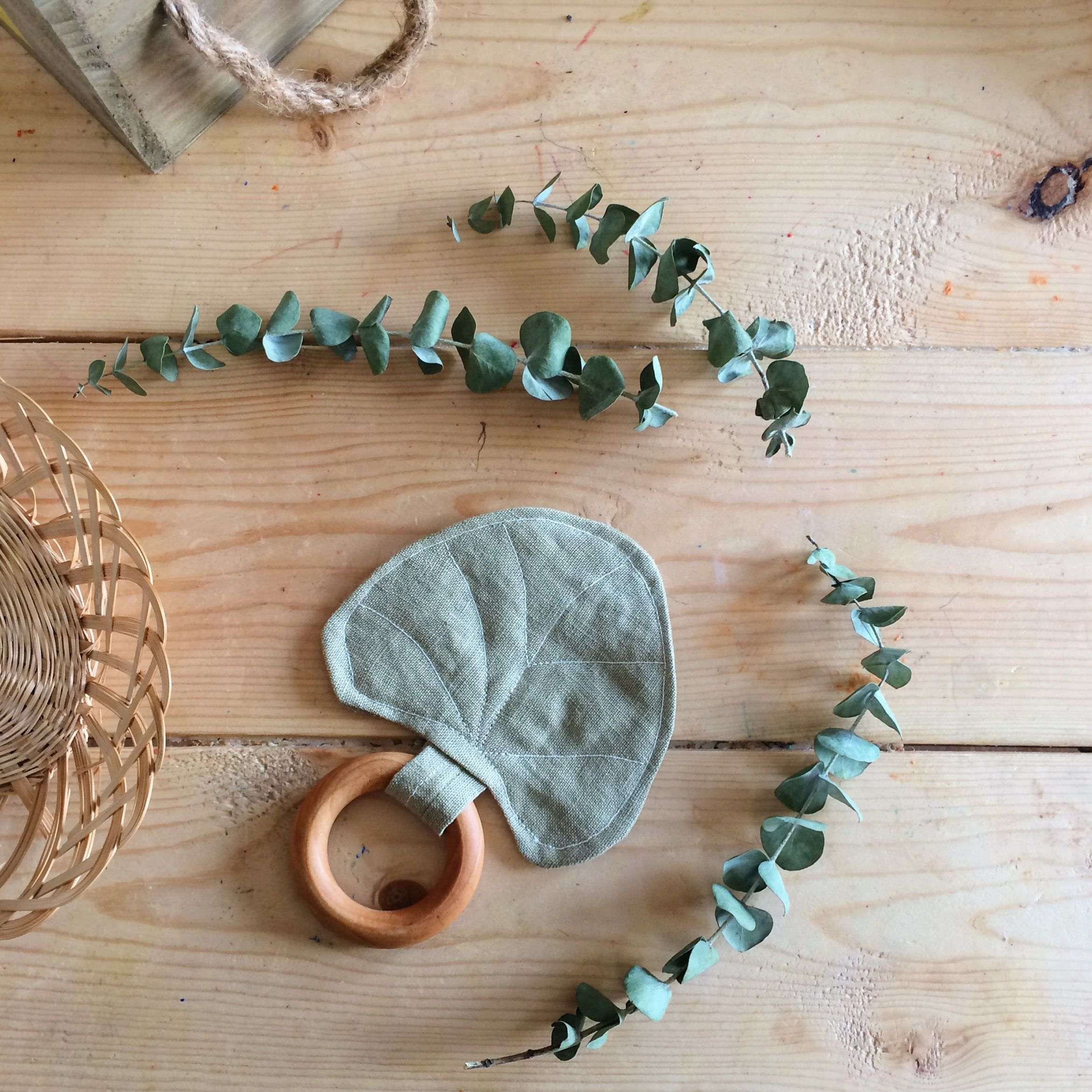 e57a42aa722 Enjoy this beautiful and soft eucalyptus leaf as a gorgeous accessory and a  beloved heirloom toy or lovey.