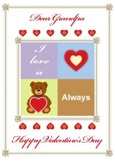 Free Printable Valentine S Day Card For Grandpa My Free Printable Cards Com Free Valentine Cards Printable Valentines Cards Happy Valentines Day
